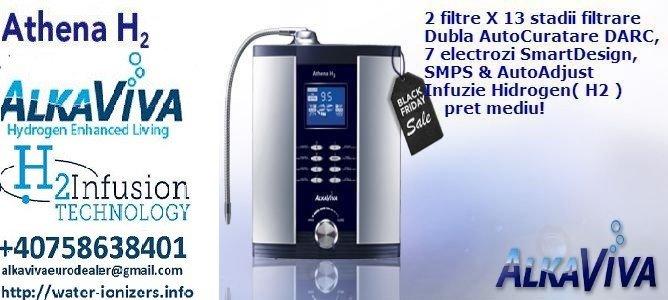 purificator aparat apa hidrogenata / ionizator apa Alkaviva Athena H2