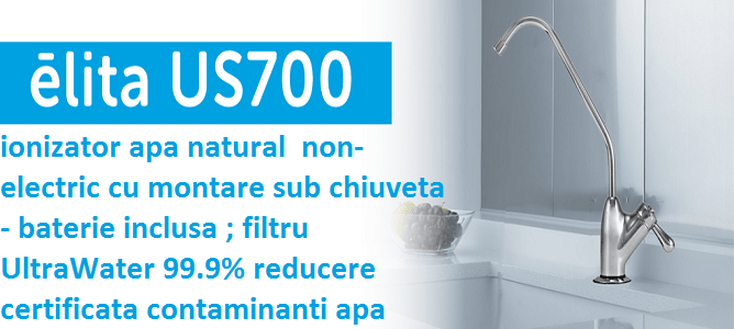 AlkaViva Elita US 700 - UnderSink ionized water filter -non electric Under Sink water ionizer - clean , mineral,alkaline, antioxidant, hydrogen water