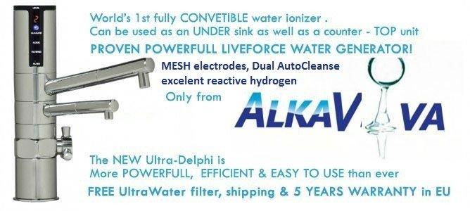 UltraDelphi IO 400 U undersink water ionizer & purifier filter - POWERFULL LIVE WATER GENERATOR