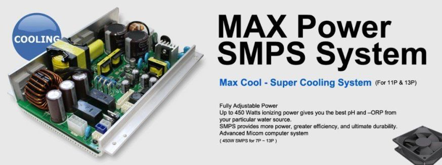 smps max cool prime 1301 r water ionizer