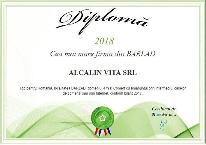 cea mai mare firma Barlad Alcalin Vita SRL