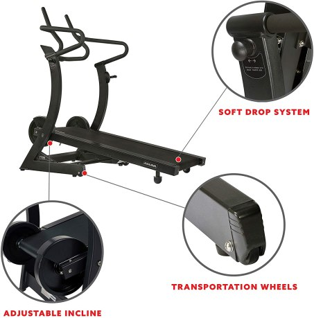 Asuna folding treadmill with Adjustable Incline specifications