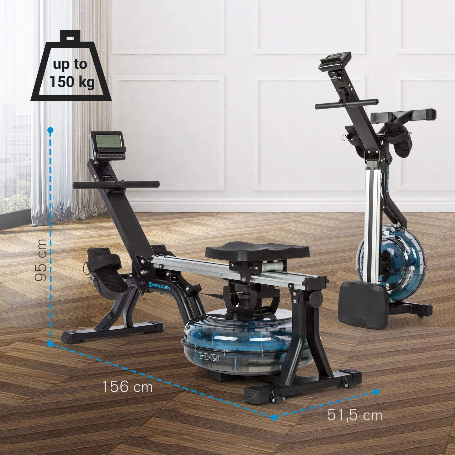 Capital Sports Flow M Water Rowing Machine Rowing