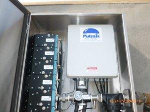 Pulsair water tank mixing system
