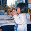 [Photo: Child drinking water.]