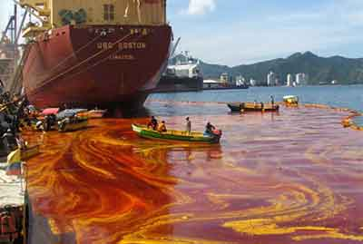 Oil water pollution