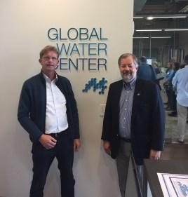 Hein Molenkamp (Managing Director Water Alliance en Dean Amhaus van de Milwaukee Water Council