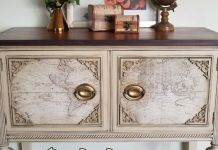 kabinet-warna-putih-finishing-glaze-dan-chalk-paint