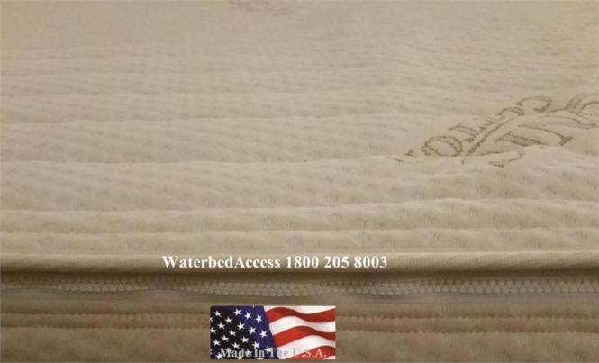Organic Cotton Zipper Cover For Softside Waterbed Mattresses
