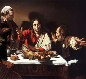 Detail of the Supper at Emmaus by Caravaggio
