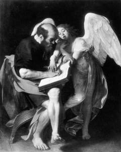 St Matthew and the Angel by Caravaggio