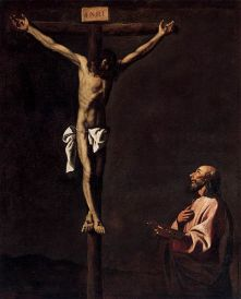 St Luke as a Painter before Christ on the Cross, Museum of Prado