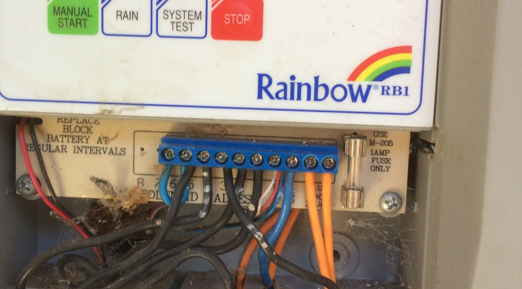 Reticulation controller wiring