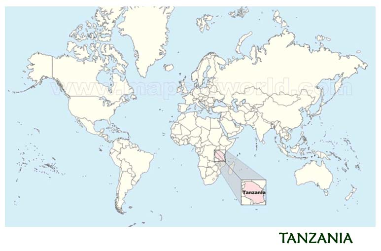 Waterbuck Safaris - Map of Tanzania