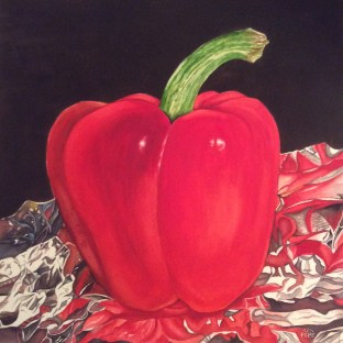 Julia Pope, Big Ole Red Pepper On Foil