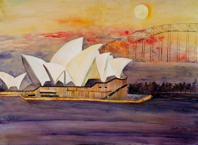 WANG CAROLINE Opera House In The Sunset