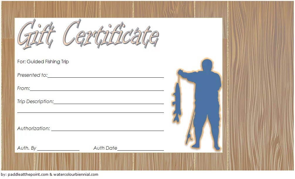 Fishing Gift Certificate Editable Templates 7 LATEST DESIGNS