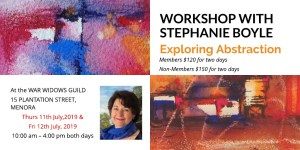 Stephanie Boyle Workshop - Exploring Abstraction - 11 & 12 July 2019