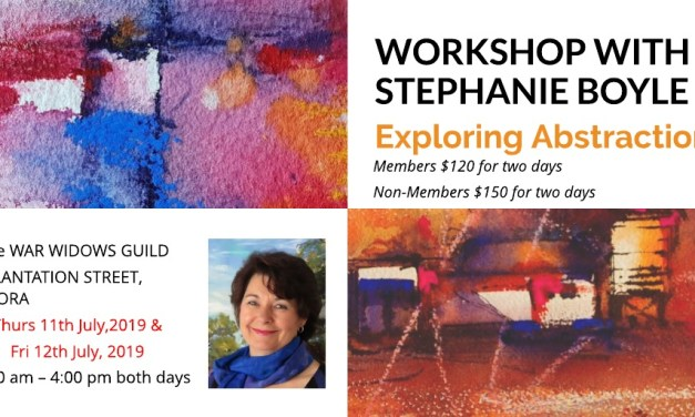 Stephanie Boyle Workshop – Exploring Abstraction – 11 & 12 July 2019