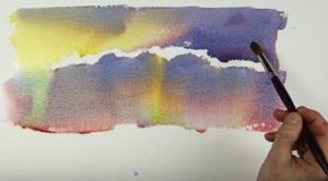 The effect of painting on a wet surface