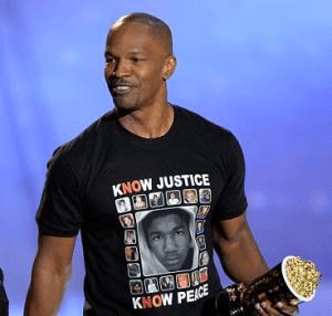 jamie foxx trayvon shirt