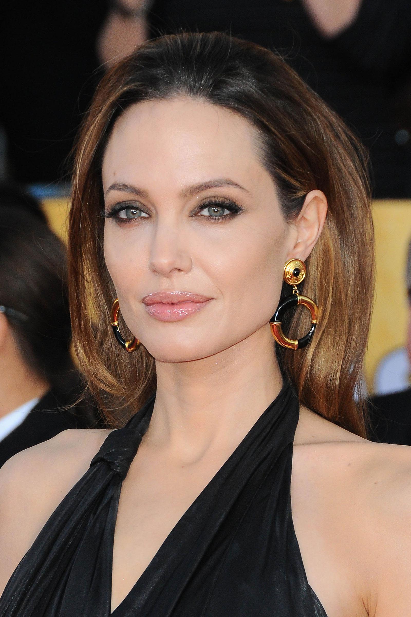 breasts Angelina jolie