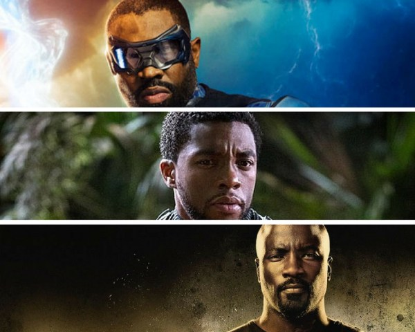 Black Superheroes, Black Lightning, Black Panther, Luke Cage