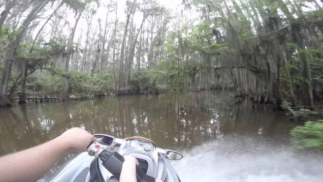 Jetski riding with Alligators at Caddo River