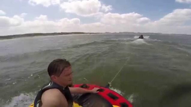 Having fun  on  Canyon Lake Texas July 2015