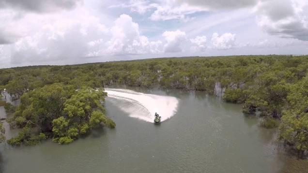 jetski dji phantom mangrove run