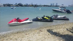 Jetski ride in Miami Beach