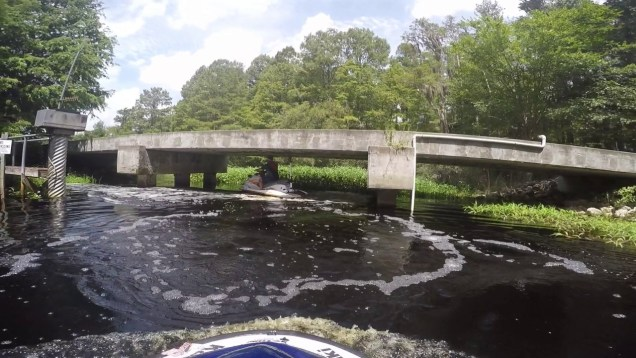 Jet ski accident – Jet skiing a woodsy jungle creek and hit by a fish