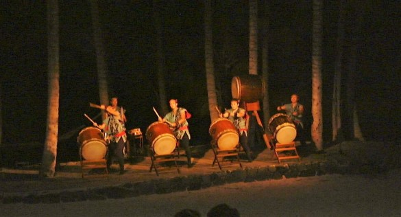 musicians at the luau (feast)