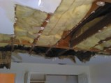 Water damage, flood cleanup, water damaged ceiling,