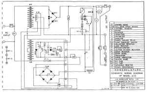 SCHEMATIC WIRING DIAGRAM OF MODEL A33