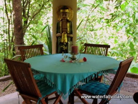healing cuisine at waterfall villas