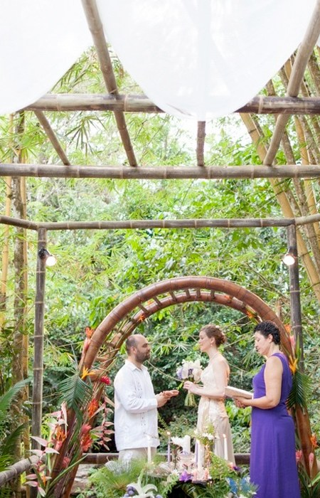 Christian Wedding Ceremony at the Waterfalls - Waterfall Villas