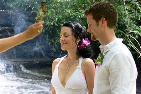 Vow Renewal Ceremony in Waterfall Villas
