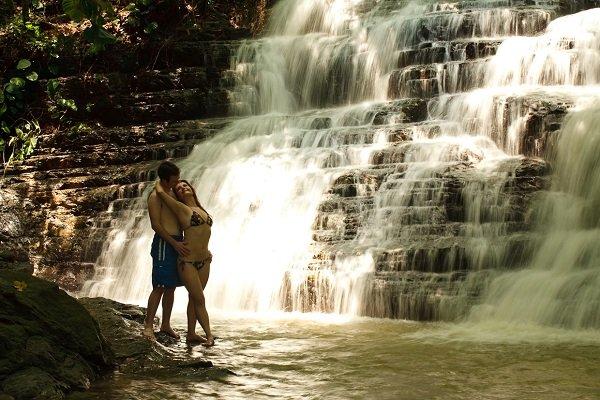 romantic waterfall costa rica