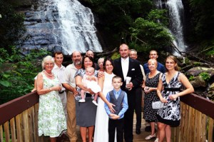 Family Waterfall Wedding - Cheap Elopement Packages