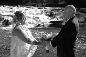 Private Waterfall Wedding Location - site for inexpensive elopement packages