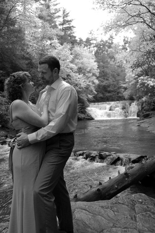 Cheap Elopement Package at a local waterfall