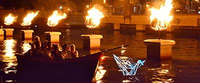 A romantic boat ride through Waterfire, photo by John Simonetti.
