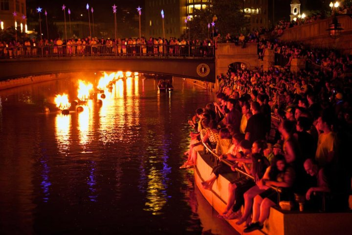 Crowd at WaterFire