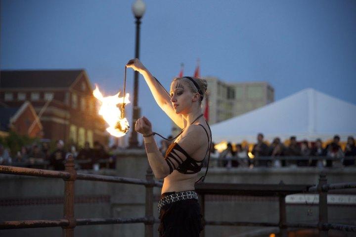 Julia Jerome, fire spinner.