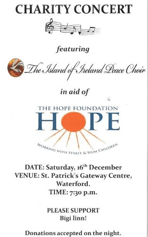 Charity concert for Hope Foundation