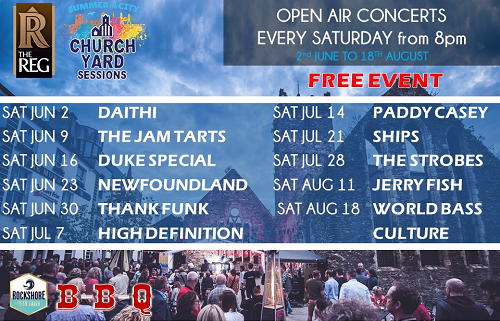 church Yard Sessions waterford banner
