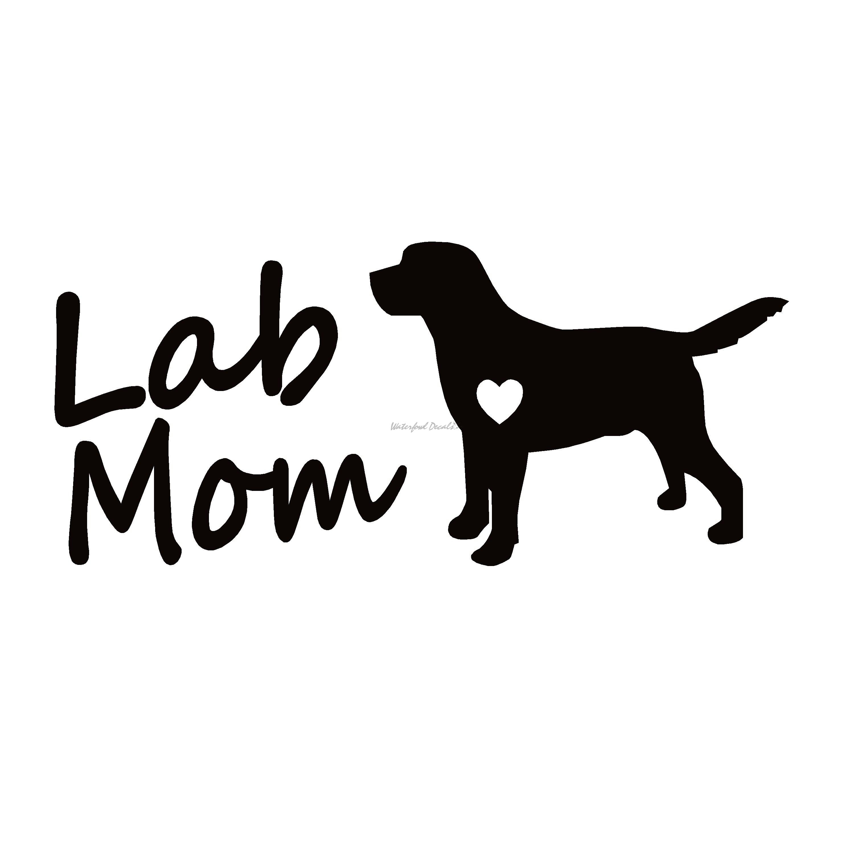 Lab Mom Labrador Retriever Decal
