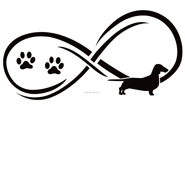 Wiener Dog Dachshund Dog Infinity Decal Sticker