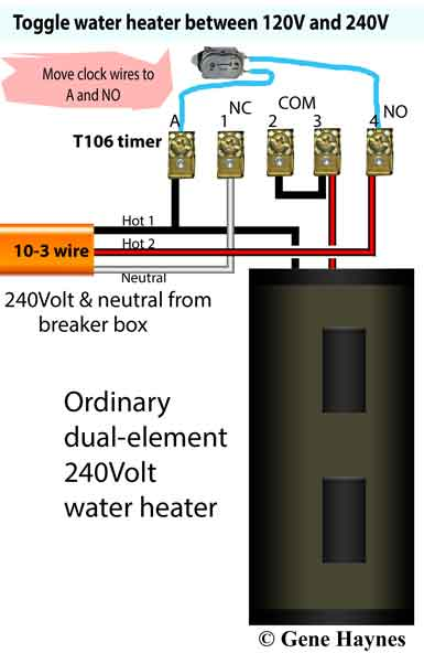 how to wire offpeak water heater thermostats